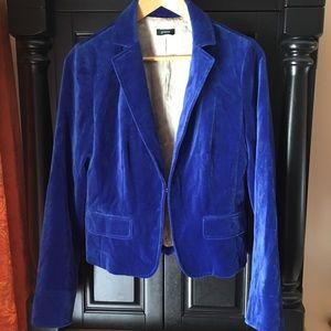 J. CREW Blue Velvet Blazer Sz 8